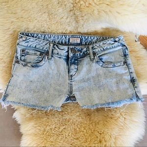 Free People acid wash jean shorts